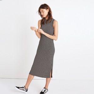 Madewell Ribbed Striped Knit Midi Dress